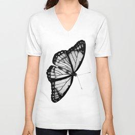 Danaus plexippus - Buttefly pointillism Unisex V-Neck