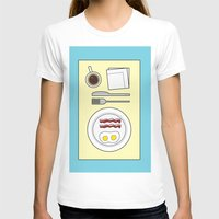 breakfast T-shirts featuring Breakfast by Hope Palattella