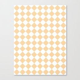 Diamonds - White and Sunset Orange Canvas Print