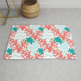 Clowning Around With Sea Turtles on The Reef Rug