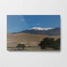 Great Sand Dunes and Mount Herard Metal Print