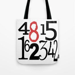 The Numbers in White Tote Bag