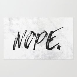 NOPE Marble Quote Rug