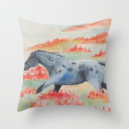 Indian Paintbrush Dakota Horse Throw Pillow