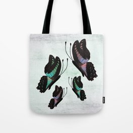 Purple and Blue Butterflies  Tote Bag