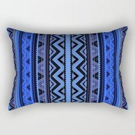 Mix #218 - Blue Aztec Rectangular Pillow