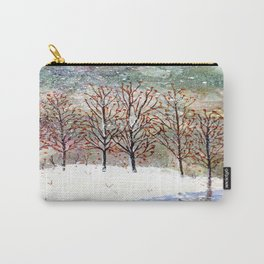 Snowy Trees along Moon Lake in Dewdrop Holler Carry-All Pouch