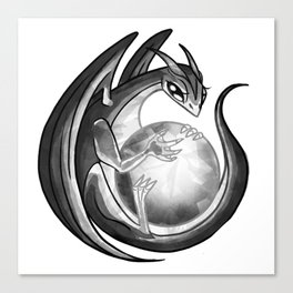 Scrying Dragon Canvas Print