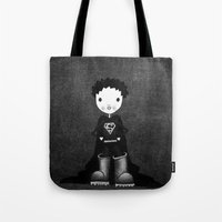superhero Tote Bags featuring Superhero by Sylphing