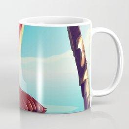 Vintage Pelican on the beach Coffee Mug