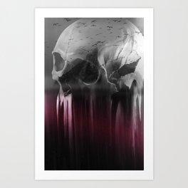 Creepy skull Art Print