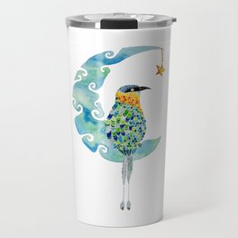 Bobo bird on the moon Travel Mug