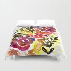 Violet Roses Duvet Cover