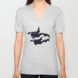 Orca male and female Unisex V-Neck