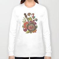 banjo Long Sleeve T-shirts featuring Ever Banjo by Valentina Harper