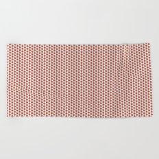 Red Apple fruit pattern Beach Towel
