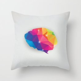 Geometric brain Throw Pillow