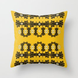 Ornate circulate is festive in  flower decorative Throw Pillow