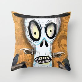 Skellington Throw Pillow