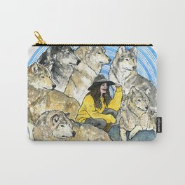 She runs with wolves Carry-All Pouch