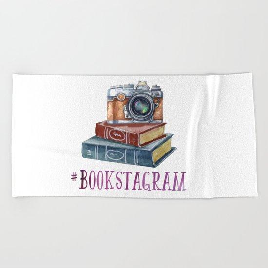 Watercolor Bookstagram Beach Towel
