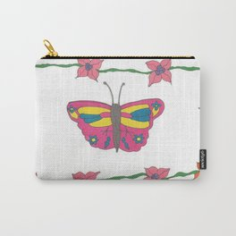 Butterfly and Blooms Carry-All Pouch