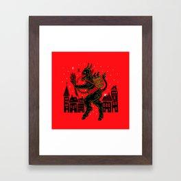 Krampus Framed Art Print