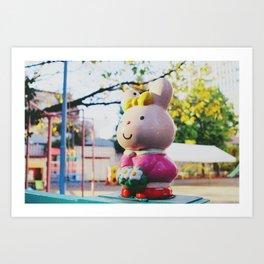 Street Bunny Art Print