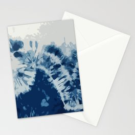 Shibori Waves by Juul Stationery Cards