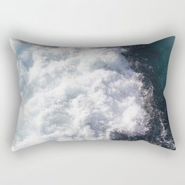 sea - midnight blue wave Rectangular Pillow