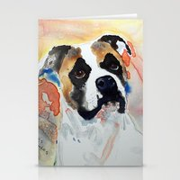 boxer Stationery Cards featuring Boxer by Bowles Fine Paintings