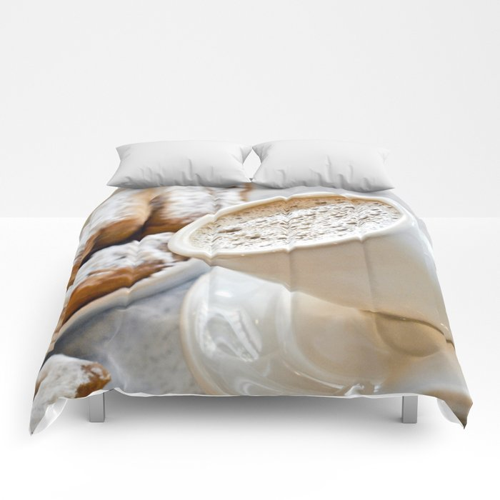 New Orleans Beignets and Café au Lait Comforters
