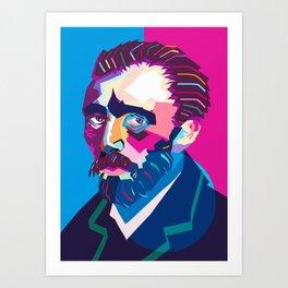 Wpap Van Gogh Art Print