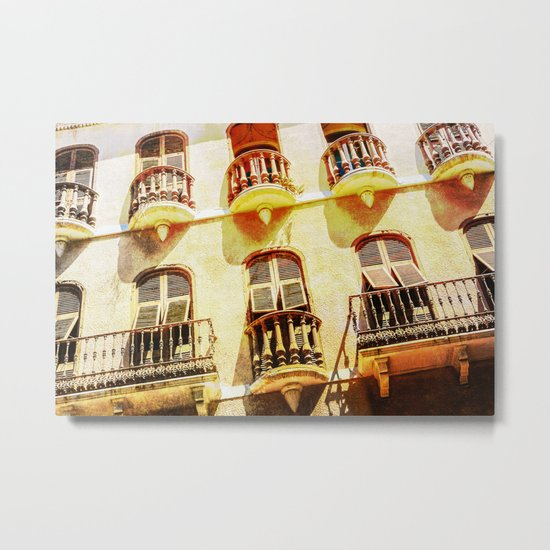 Gibraltar balconies Metal Print