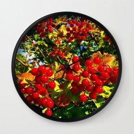 Red Kalinka. Wall Clock