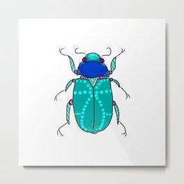 Mr Frost Beetle Metal Print