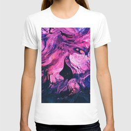 stains paint liquid blending abstractiona T-shirt