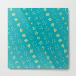 Asterisk-a-thon Blue Metal Print