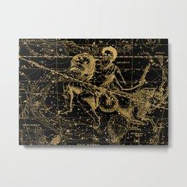 Vintage  Engraving of Aquarius Constellation Metal Print