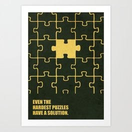 Lab No. 4 -Even The Hardest Puzzles Have A Solution Corporate Start-Up Quotes Art Print