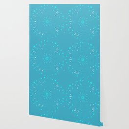 Psychadelic Space Mandala - Turquoise Wallpaper