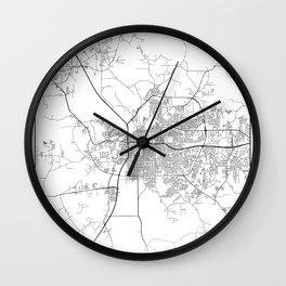 Minimal City Maps - Map Of Montgomery, Alabama, United States Wall Clock