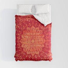 N69 - Oriental Heritage Vintage Orange Traditional Moroccan Farmhouse Style Artwork Comforters