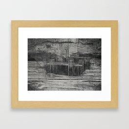 Set In Stone Framed Art Print