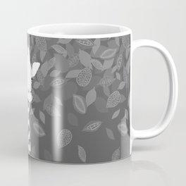 Funny Giraffe with Leaves Coffee Mug