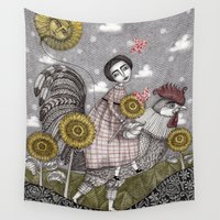 ballon Wall Tapestries featuring Last Days of Summer by Judith Clay
