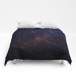The Galaxy Rains (Color) Comforters