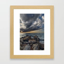 Bridge across the sky to the other side Framed Art Print