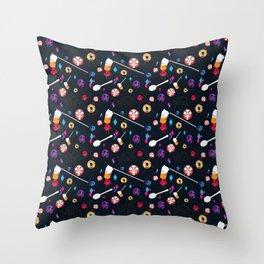 Spilled Cereal Arrangement No. 1 Throw Pillow
