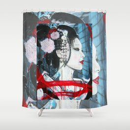 Geisha // Artist of the Floating World // Asian Art // Geisha Girl Shower Curtain
